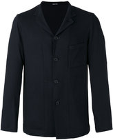 Giorgio Armani chest pocket shirt jacket - men - Ramie/Spandex/Elastane/Viscose - 48