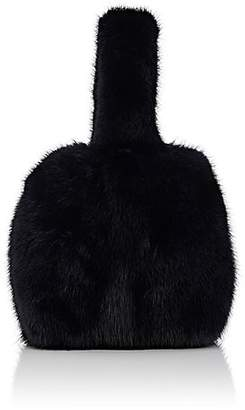 Barneys New York Women's Mink Fur Wristlet Bucket Bag - Navy