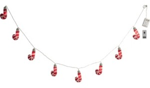 Transpac Trans Pac Green Christmas Candycane String Light with Remote Control