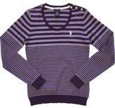 U.S. Polo Assn. Striped Button Detail Crewneck