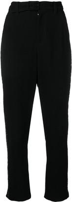 Derek Lam 10 Crosby Rhinestone Tuxedo Stripe Trousers