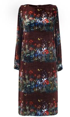 AILANTO Wine Dandelions Dress