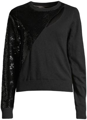 RtA Teagan Cutout Sequin Sweater