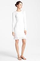 Yigal Azrou?l Flutter Hem Tech Knit Dress