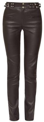 Isabel Marant Jeydie Leather Trousers - Black