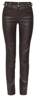 Isabel Marant Jeydie Leather Trousers - Womens - Black