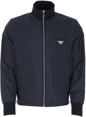 Prada Zipped Logo Plaque Jacket