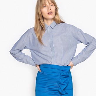La Redoute Collections Long-Sleeved Striped Loose Fit Shirt