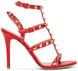 Valentino Red Garavani Rockstud Ankle Strap Sandals