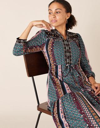 Under Armour Geo Print Midi Dress with Organic Cotton Multi
