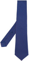 Kiton micro geometric pattern tie - men - Silk - One Size