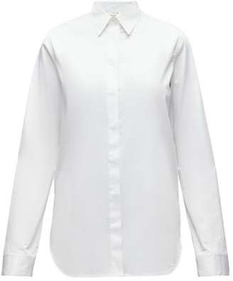 The Row Amos Point-collar Cotton-poplin Shirt - White