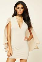 Forever 21 FOREVER 21+ Cape-Sleeve Dress