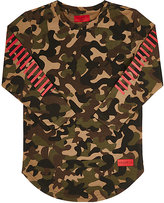 Haus of JR Camouflage Stretch-Jersey T-Shirt-BROWN