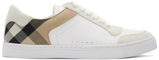 Burberry White New Reeth Sneakers