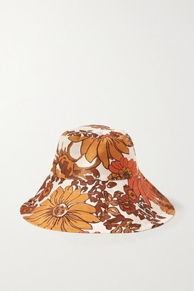 Dodo Bar Or Daria Floral-print Cotton Bucket Hat - Brown