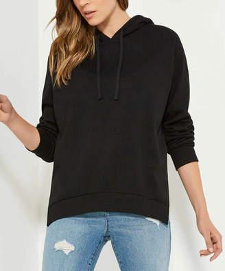 Joe Fresh Women's Sweatshirts and Hoodies JF - Black Side-Slit Hoodie - Women