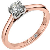 Leo Diamond 18ct rose gold 0.50ct I-SI2 solitaire ring