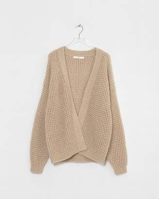 Big Chill Arch The Beige Mohair Waffle Cardigan