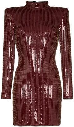 HANEY Giorgia sequin-embellished mini dress