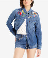 Levi's Limited Patched Cotton Denim Shirt, Created for Macy's