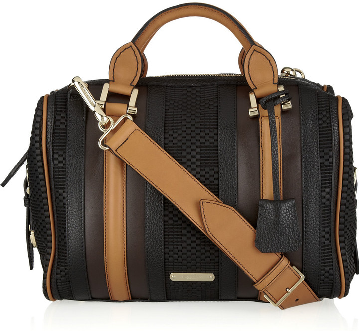 Burberry Leather bowling bag