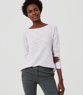 LOFT Petite Textured Shirttail Sweater