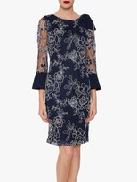 Gina Bacconi Melina Embroidered Dress, Spring Navy
