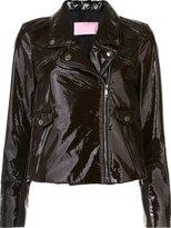 Giamba vinyl biker jacket