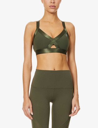 Lorna Jane Nathalie belt-trimmed stretch-jersey sports bra