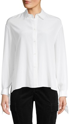 Vince Silk Tie Sleeve Blouse