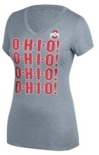 Top of the World Women's Ohio State Buckeyes Grand Slam Bling Slogan T-Shirt