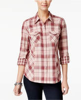 Style&Co. Style & Co Petite Cotton Plaid Shirt, Only at Macy's