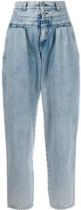 Alberta Ferretti front pleated jeans