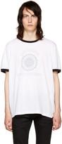 Saint Laurent White université Logo Ringer T-shirt