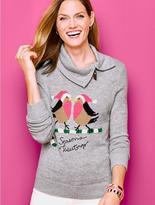 Talbots Holiday Birds Sweater