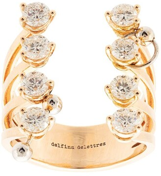 Delfina Delettrez 18kt Yellow Gold Pierced Diamond Dots Ring
