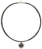 Alor 18K White Gold, Ceramic, & Diamond Pendant Necklace - 0.68 ctw