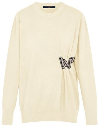 Louis Vuitton Knitted Pullover With Embroidered Patch