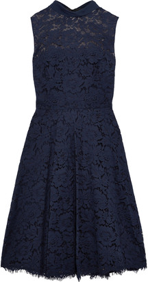Mikael Aghal Tie-neck Corded Lace Dress