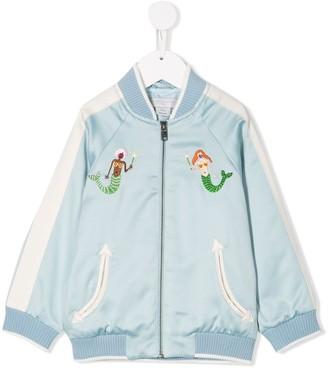 Stella McCartney Mermaid Embroidered Bomber Jacket