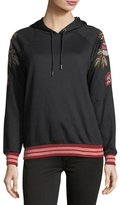 Romeo & Juliet Couture Embroidered-Sleeve Hooded Sweatshirt