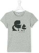 Karl Lagerfeld silhouette print T-shirt - kids - Cotton/Spandex/Elastane - 14 yrs
