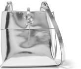 Kara Nano Tie Mirrored-leather Shoulder Bag - Silver