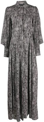 FEDERICA TOSI Long Sleeve Silk Chemisier Dress