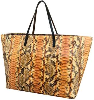 Fendi Roll Bag Orange Python Handbags