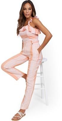 New York & Co. High-Waisted Wide-Leg Linen Pant