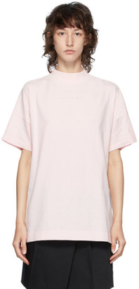 Alyx Pink Logo Mock Neck T-Shirt