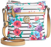 Giani Bernini Floral Stripe Crossbody, Only at Macy's