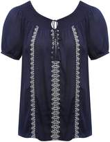 M&Co Embroidered peasant top